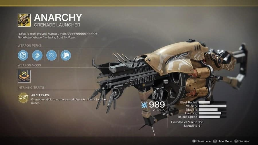 Destiny 2 Anarchy featured