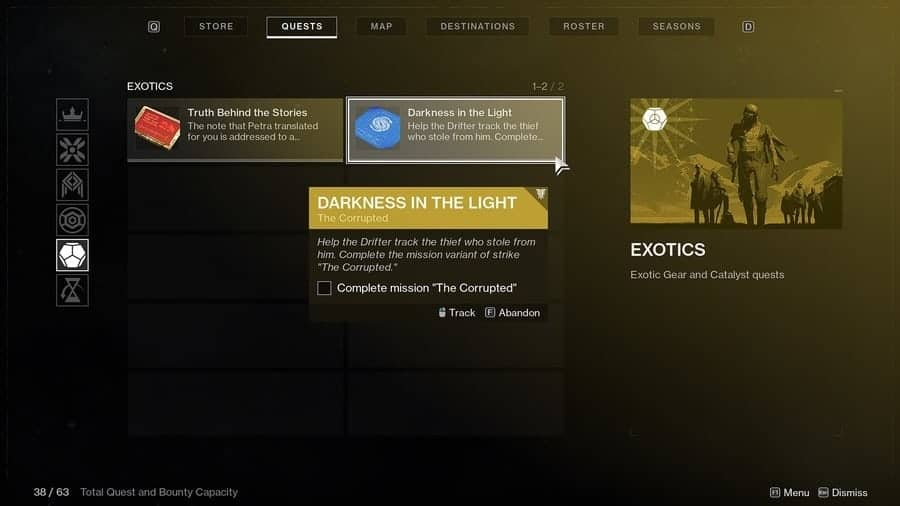 Destiny 2 Exotic quests