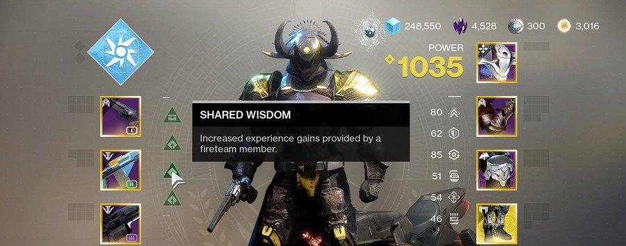 Destiny 2 Shared Wisdom
