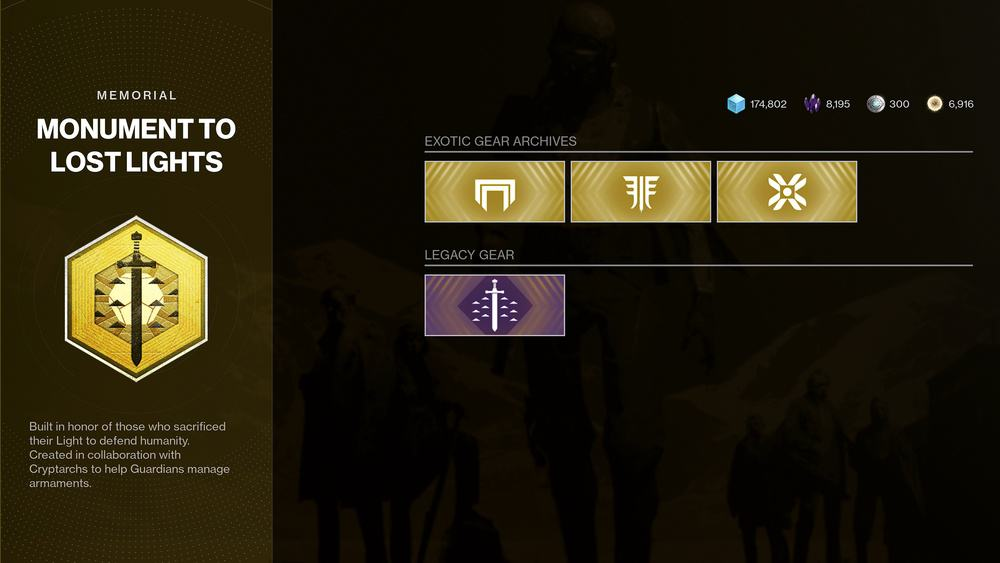 Monument to Lost Lights Destiny 2