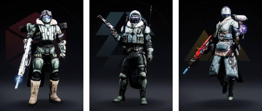 Destiny 2 Crystocene armor sets