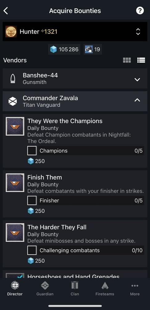 Destiny 2 app bounties