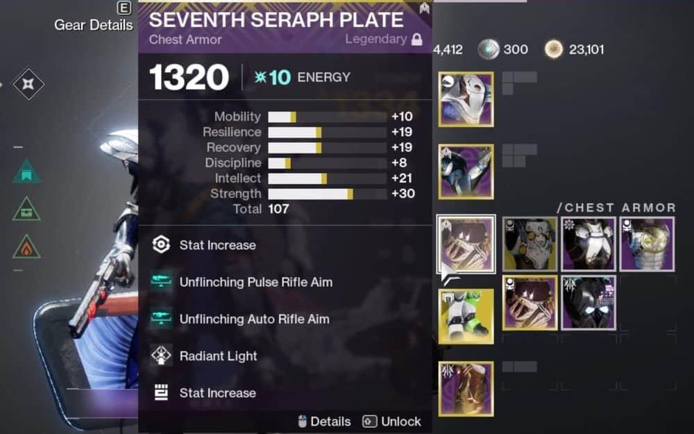 High stat armor Destiny 2