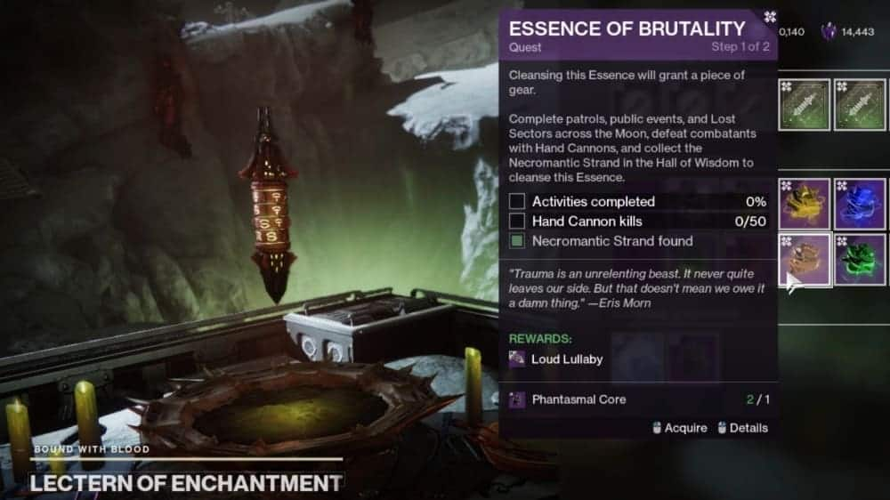 Nightmare Essences Destiny 2 v2